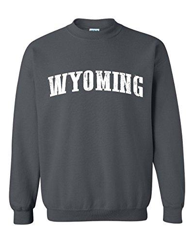 Ugo WY Wyoming Cheyenne Map Cowboys & Cowgirls Home University of Wyoming Unisex Crewneck - University Park Village