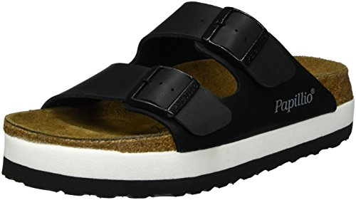 Papillio by Birkenstock Arizona Ladies Platform Buckle Sandals Black 37