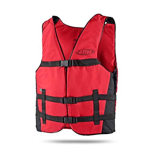 Colete Flutuador Canoa Adulto - Vermelho - 90Kg