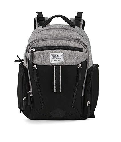 Eddie Bauer Eddia Bauer Quest Diaper Backpack, Black, Grey