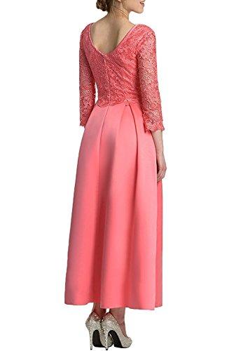 Ballkleider Dunkel Brautmutterkleider A Rock Braut La Herrlich Knoechellang Satin Rot Spitze mia Abendkleider Pink Promkleider Linie xAwYFCq