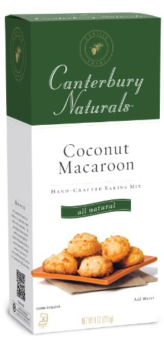 Canterbury Naturals Coconut Macaroon Cookie Mix, 9-Ounce Boxes (Pack of 6)