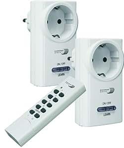 Home Easy HE801S - Conjunto de 2 interruptores + mando a distancia