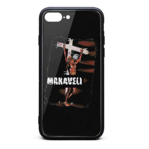 iPhone 7 Plus/iPhone 8 Plus Case Tupac-Shakur-The-Don-Killuminati-The-7-Day-Theory-(1)- Shockproof Tempered Glass Back Cover Soft TPU Bumper Shell for iPhone 7 Plus/iPhone 8 Plus