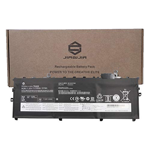 JIAZIJIA 01AV431 Laptop Battery Replacement for Lenovo ThinkPad X1 Carbon 5th Gen 2017 6th Gen Series SB10K97588 01AV494 SB10K97586 01AV429 SB10K97586 01AV430 SB10K97587 Black 11.52V 57Wh 4950mAh