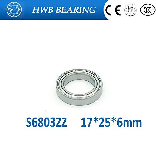 Ochoos S6803ZZ 10PCS 17x26x5mm Stainless Steel Ball Bearings S6803Z S61803ZZ S6803 ZZ for Bicycle Part