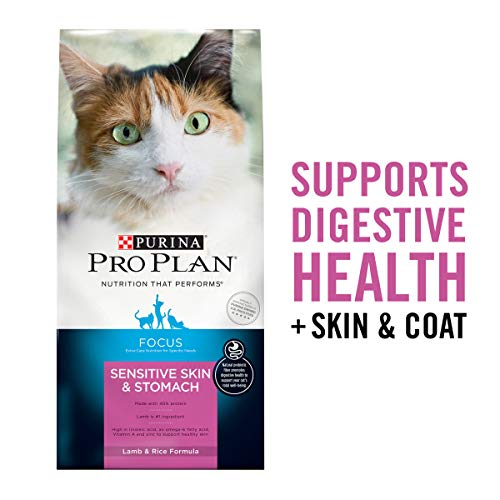 Purina Pro Plan Sensitive Stomach Dry Cat Food, Focus Sensitive Skin & Stomach Lamb & Rice Formula - 16 lb. Bag