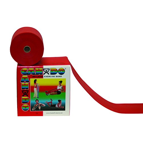CanDo 10-5692 Latex Free Exercise Band, 100 yd, Red-Light