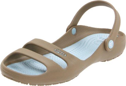 Crocs Women's Cleo II Sandal Khaki/Sky Blue iBFX7