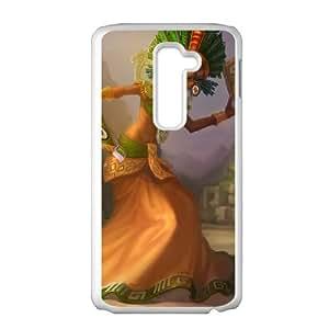 LG G2 Cell Phone Case White League of Legends Sun Goddess Karma OIW0391665