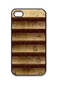 Iphone 4 4s PC Hard Shell Case Ancient Map Black Skin by Sallylotus