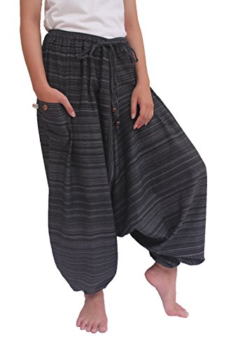 Wynnthaishop 100% Cotton Baggy Boho Aladin Yoga Harem Pants