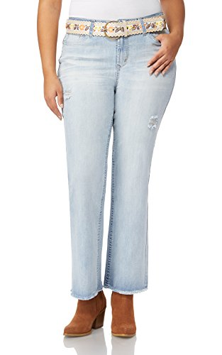 WallFlower Plus Size Belted Legendary Bootcut Jeans In Bleeker, 20 Plus
