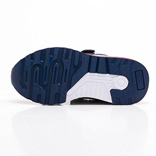Zapatillas de deporte para ninos Velcro Trainers Ninos Zapatillas ligeras transpirables Deportes Zapatillas para caminar al aire libre Azul