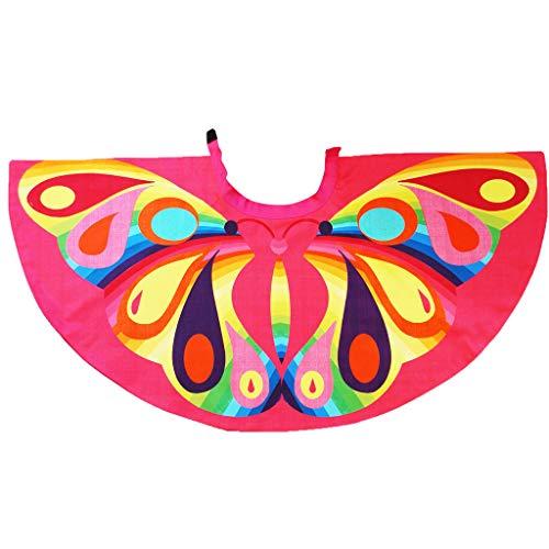 Binory Children Cartoon Owl Cape, Rainbow Bird Festival Costume Cloak Perfect for Kids Ballet | Animal Dress Up | Bird Themed Birthday Parties | Recitals | Flower Girls | Playhouse Cosplay(Pink)