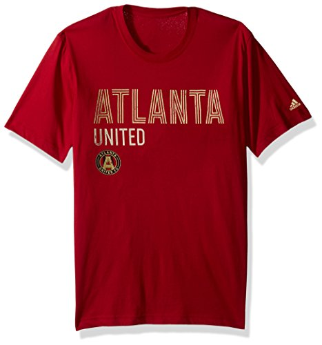 adidas MLS Atlanta United Adult Men Tri-Line Premium Cotton Tee, X-Large, Victory (United Premium T-shirt)