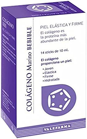 Valefarma Colágeno Marino Bebible - 14 sticks: Amazon.es ...