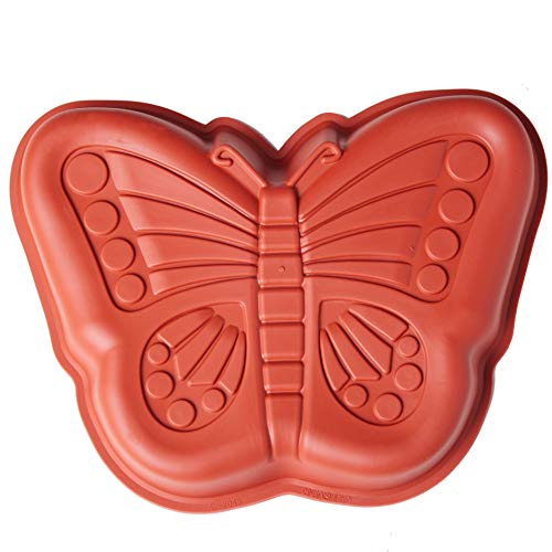 Silicone Butterfly Cake Pan, Baking Mold Non-stick Silicone Baking Pan Bread Bundt Pan Homemade Cake Decorating Tools ()