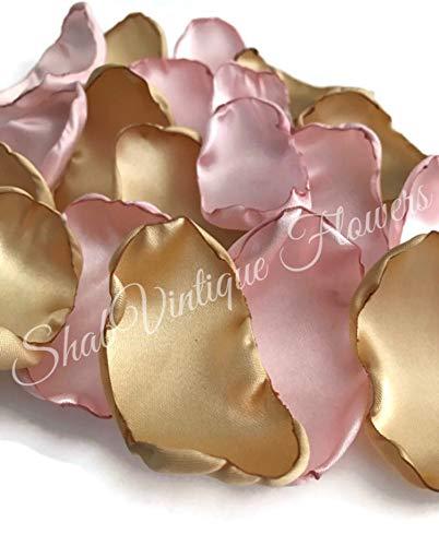 Blush and Gold 100 flower petals wedding decor bridal shower decor