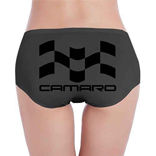 Womens Large Camaro Logo Camaro5 Chevy Low Rise Panty Black