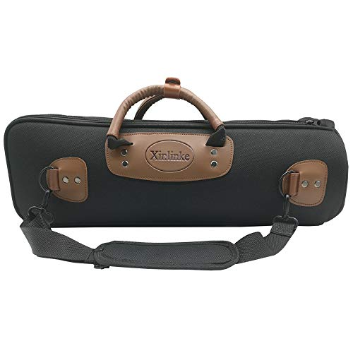 WISHAVE Lightweight Trumpet Case Soft Gig Bag 15mm Padded 1200D with Leather Handle Single Strap