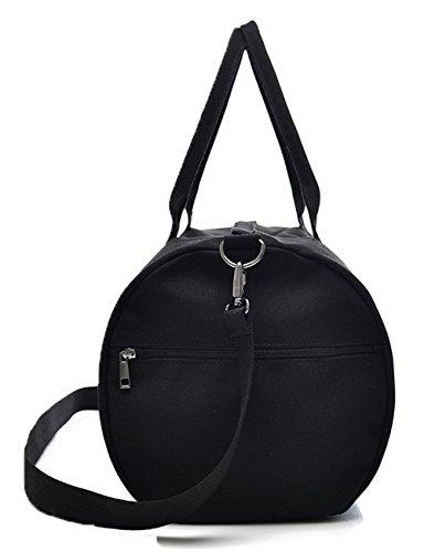 Lona Mujeres de mano Bolsas ROPBL181178,Negro de Viajar Duffel hombro Bolsas Odomolor Style Negro 60awHdqzav