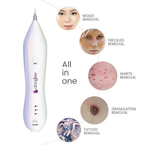 Mole-Removal-Pen-Portable-USB-Charging-Freckles-Dark-Spot-Nevus-Tattoo-Dot-Mole-Remover-Beauty-Skin-Machine-with-LCD-Display-Perfect-for-Removing-Skin-Tag-by-Absoglow