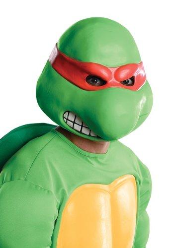 rtles Adult Raphael Overhead Latex Mask, Green, One Size (Overhead Latex Adult Mask)