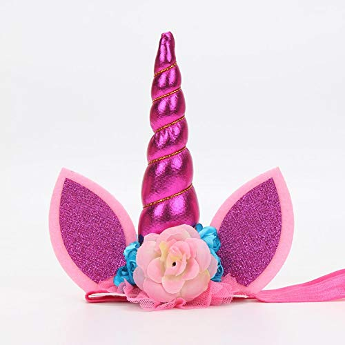 Autumn Water 14cm Unicorn Flower Crown Headband Cake Topper s Birthday Cake Decoration Halloween Party Event Supplies -
