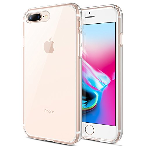 MX·HYKER iPhone 7 Plus Case, iPhone 8 Plus Case, Hard Clear Transparent Slim Case Drop Protection Scratch-Resistant Matte Bumper Cover for iPhone 7 Plus/iPhone 8 Plus (Clear) (Best Drop Resistant Phone)