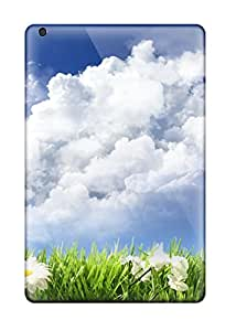 High Grade CaseyKBrown Flexible Tpu Case For Ipad Mini/mini 2 - Sky And Flowers