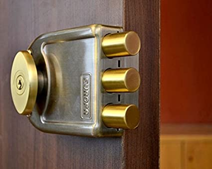 Europa Locks Door Locks (Antique Brass, 20mm)