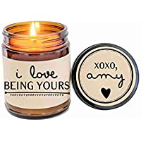 Personalized Valentines Day Gift for Boyfriend I Love Being Yours Soy Candle Boyfriend Gift Scented Candle Valentine Gift for Him