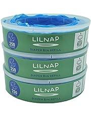 LILNAP - Recharges pour Poubelle à Couches Angelcare | Film Antibactérien Multicouche avec Traitement EVOH Anti-odeurs
