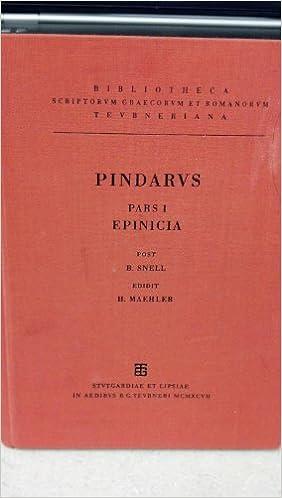Amazon com: Pindari Carmina cum fragmentis  Pars I  Epinicia
