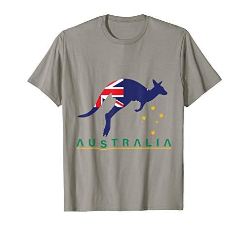 Australia Flag Kangaroo T-Shirt