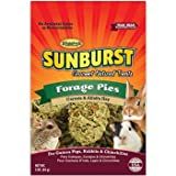 Higgins Sunburst Forage Pies Gourmet Treats for Guinea Pigs, Rabbits & Chinchillas, 3 oz.