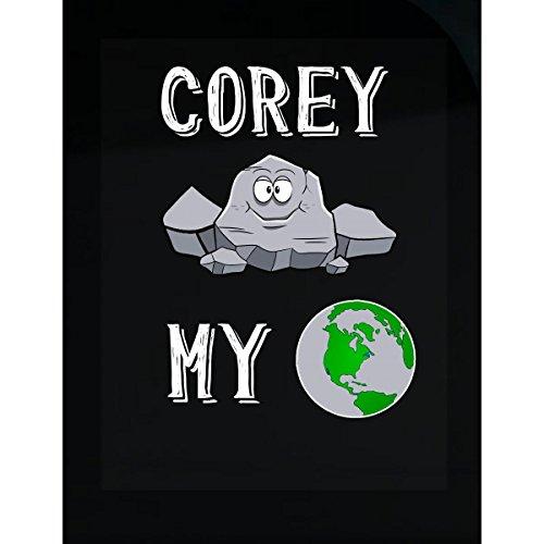 Corey Rocks My World Funny Cute Valentines Gift - Sticker
