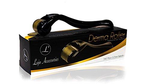 Lujo Accessories Premium Skin Care Derma Roller Kit Cosmetic Needling Instrument   540 Micro 0.25mm Needles   Professional Grade Beauty Skin Care Acne Scaring Treatment & Wrinkle Treatment (Roller Skin Kit)