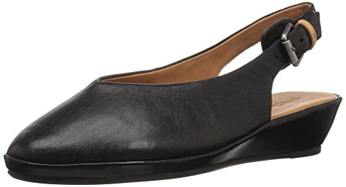 Gentle Women's by Black Noemi Round Slingback Low Leather Toe Cole Souls Flat Wedge Kenneth r5TqxIrw