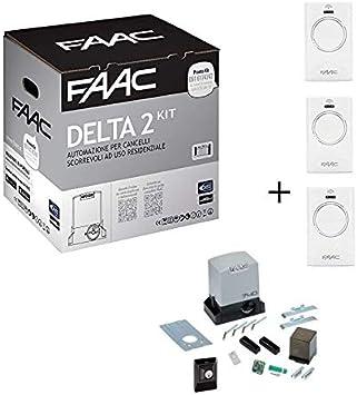 Faac Promo Delta 2 - Kit de automatización de puertas correderas para motor Encoder 740 E Z16 Peso máximo 500 kg 1056303445: Amazon.es: Bricolaje y herramientas