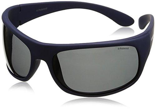 de unisex rectangulares Azul Blu 7886 sol Gafas Polaroid qxnw4aRZw