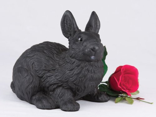 Ever My Pet Companion Bunny Rabbit Pet Urn Black by Ever My Pet
