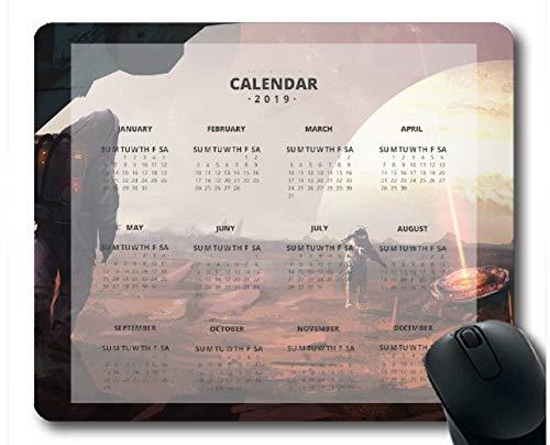 Flying Pig Man 2019 Calendar Pads,Astronaut Gaming Mouse mats (Multi 36)
