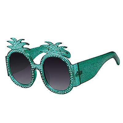 NEW Oversized Pineapple Sunglasses Women Vintage Crystal Frame Round Lens Sun Glasses 631