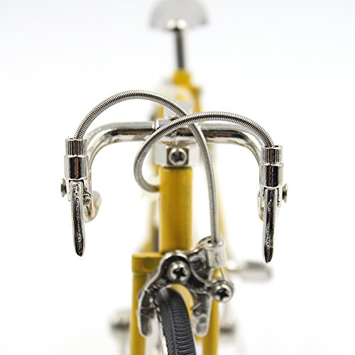 T.Y.S Racing Bike Model Alloy Simulated Road Bicycle Model Decoration Gift, Christmas Brithday Gifts for Dad, Boy and Cyclist, Yellow by T.Y.S (Image #3)