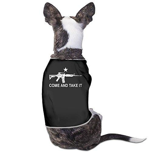 [LeeRa Black AR-15 Come And Take It 7 Dog Clothes] (Kentucky Derby Costumes For Dogs)