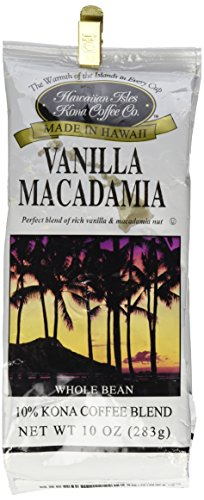 Kona Vanilla Macadamia Nut 10 oz Whole Bean