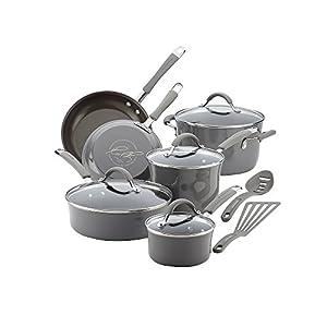 Rachael Ray Cucina Hard Porcelain Enamel Nonstick Cookware Set, 12-Piece 41MP4U5k6xL