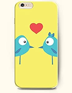 iPhone 6 Plus Case 5.5 Inches Two Bird Lovers - Hard Back Plastic Case OOFIT Authentic